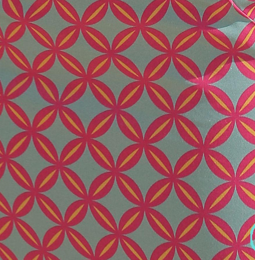 Geometrico fucsia/verde