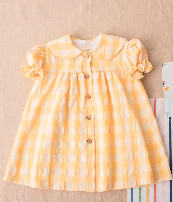 Vestido Vichy amarillo